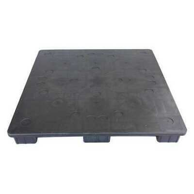 ZORO SELECT SQ4848-RR Pallet,4,000 lb.,48 In. L,48 In. W,Gray