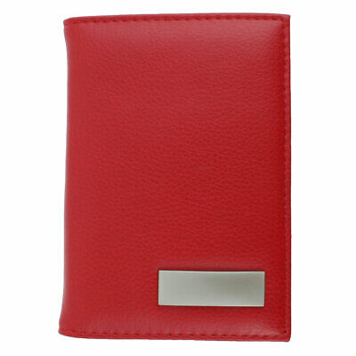 Unisex Outdoor Work Business Certificate Name ID Credit Card Case Organizer Red