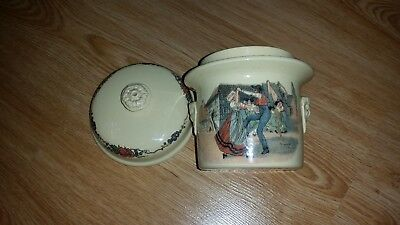 Pot Ceramic Simplex France Sarreguemines there Lid Pot Ceramic Pottery