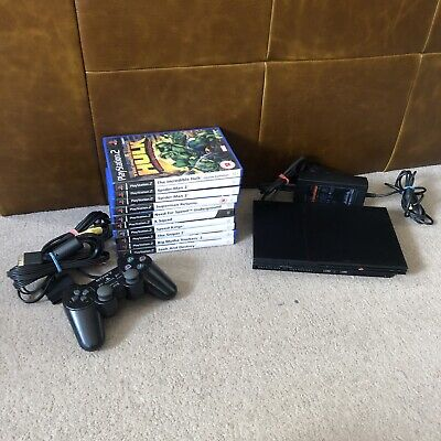 SONY PLAYSTATION 2 Slim PS2 CONSOLE Black BUNDLE PAL - Marvel Super Heroes