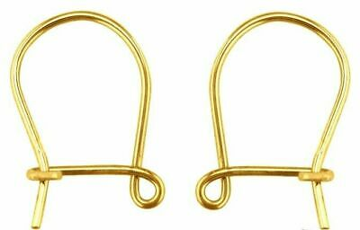 A pair of solid 9ct Yellow Gold Shepherds Crook style Plain Hook Wires