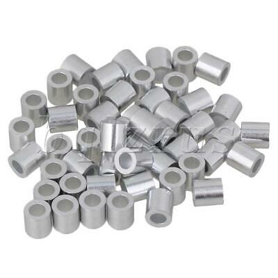 50pcs Round Hole Steel Wire Rope Aluminum Ferrules Sleeves M4
