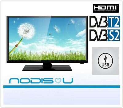 "Nodis Tv 24"" 24 Pollici Nd-24T2S2 Hd Led Hdmi Usb Dvb-T2 Dvb-S2 Ci+ Televisore"