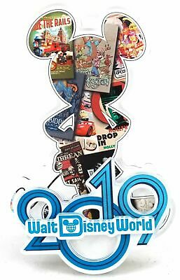 New Disney Parks Walt Disney World 2019 Mickey Silhouette Collage Acrylic Magnet