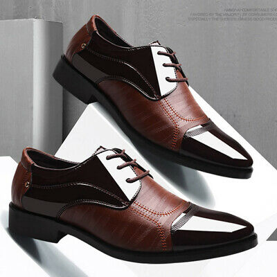 Leather Shoes Latin Prom Sports Business Ballroom Dance Large Size Men Pointed