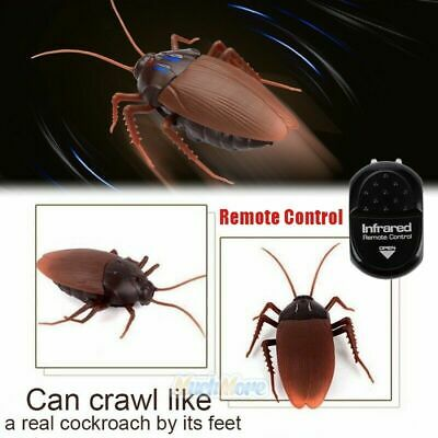 Remote Control RC Creepy Cockroach Wireless Cat Dog Pet Funny Toy Novelty Gift