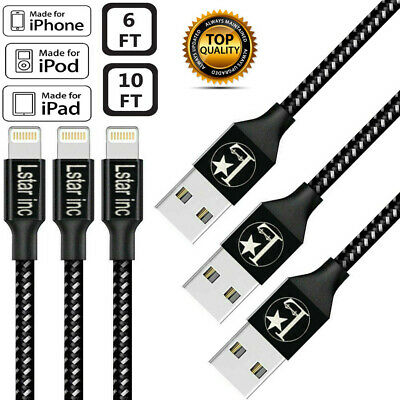 NEW Lightning Cable Heavy Duty For iPhone 8 7 6 Plus iPhone X XS XR Charger Cord