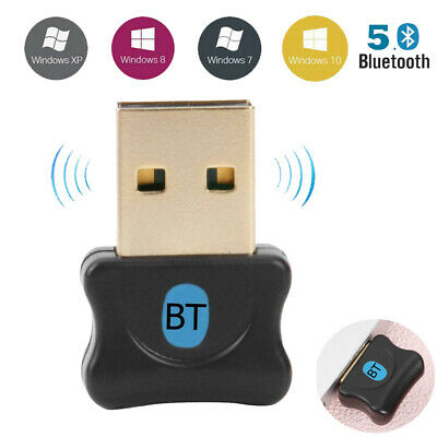 Wireless USB2.0/3.0 Bluetooth 5.0 Dongle Adapter Audio Receiver for PC Win 8/10