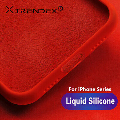 For iPhone XS Max XR 6 7 8 Genuine Trendex Shockproof Liquid Silicone Case Cover