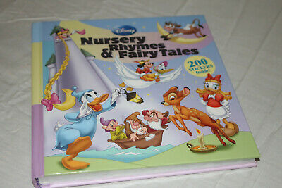 Disney Nursery Rhymes And Fairy Tales Book With 200 Stickers