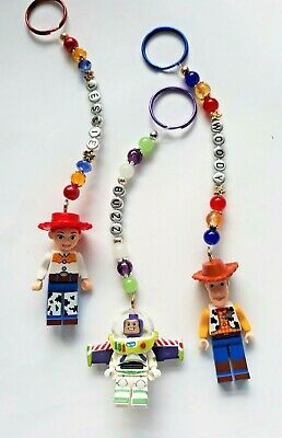 Personalised Toy Story keyring / bag charm (you chose the name ), 3 designs