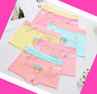 5 Pack Girls Boxer Shorts Briefs Cotton pants Underwear Knickers age 2-10 years