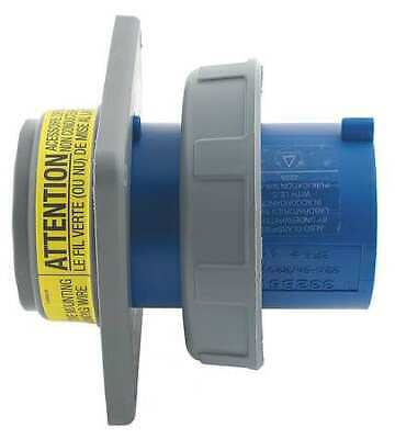 HUBBELL WIRING DEVICE-KELLEMS HBL4100B9W IEC Pin and Sleeve Inlet,100A,250V,Blue