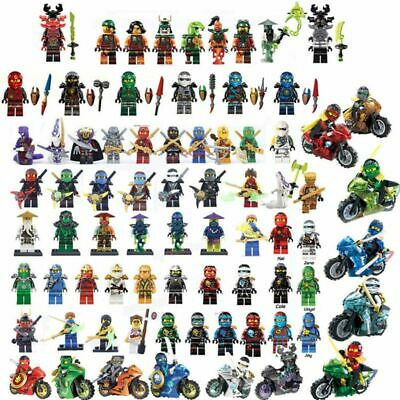 Lego Ninjago Figure Heroes Kai Jay Cole Zane Nya Lloyd With Weapons Minifigures