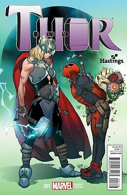 Thor Vol 4 #1 Rare Hastings Deadpool Pasqual Ferry Variant Nm Jane Foster