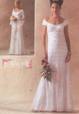 McCalls 4714 Alicyn Medieval Flared Godet Long Wedding Gown Dress Pattern 6-12