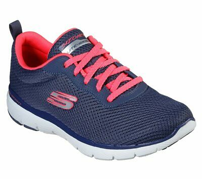 SKECHERS RED SHOES Memory Foam Women Sport Comfort Sneaker