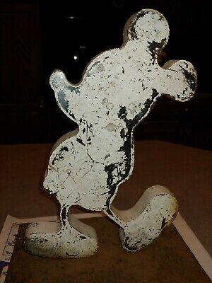 Antique solid Steel Mickey Mouse. Old & Heavy