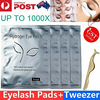 20-1000 x Under Eye Curve Eyelash Pads Gel Patch Lint Free Lash Extension Beauty