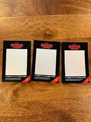 SDCC 2019 Stranger Things VISION from the Upside Down Scratch Off Complete Set