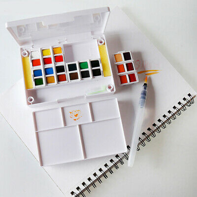 Painting Portable Mixing Palette Paint Box Watercolor Professional Solid Student