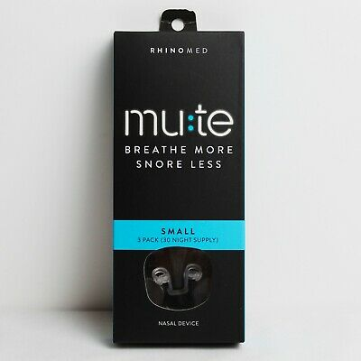 RhinoMed Mute Nasal Device - Breathe More - Small - 3 Pack (30 Night Supply) NEW