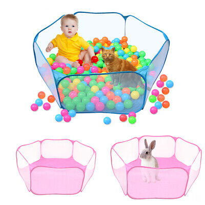 Puppy Small Dog Playpen Crate Fence Pet Cat Play Pen Exercise Cage -6 Panel Fold