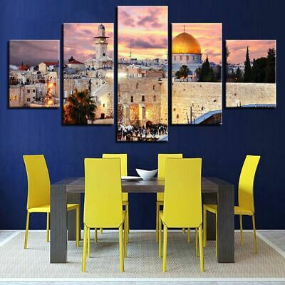 Castle 5pc Modern Art Oil Painting Print Canvas Picture Home Wall Decor Unframed