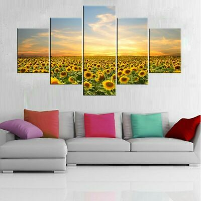 Sunflowers Modern Art Oil Painting Print Canvas Picture Home Wall Decor Unframed