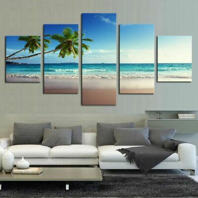 Seaside Modern Art Oil Painting Print Canvas Picture Home Wall Decor Unframed