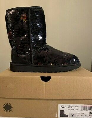 567e824d921 NEW IN BOX UGG Women's Classic Short Sequin Boots, 1094982, Black ...