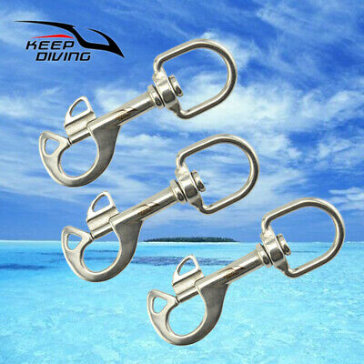 95mm Stainless Steel Swivel Eye Clip Diving Bolt Snap Hook Diving Accessories