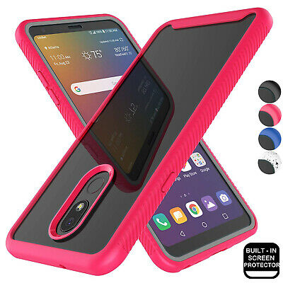 For LG Stylo 5 Phone Slim Case Built In Screen Protector 360 Full Cover Clear