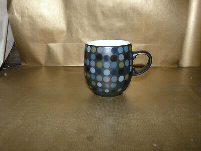 denby jet dots large curved mug