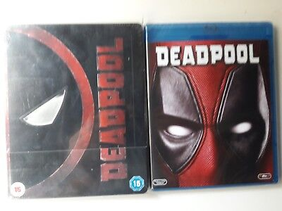 Deadpool Steelbook  Blu-Ray Uk Zavvi, Embossed Glossy Finish + Amaray España