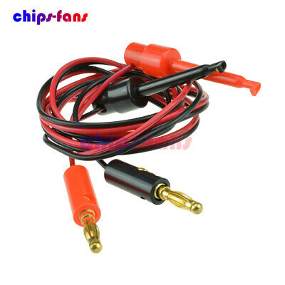 Small Banana Plug To Test Hook Clip Probe Lead Cable For Multimeter