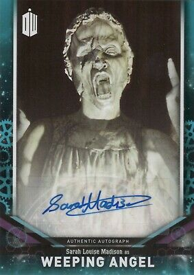 2018 Topps Doctor Who Signature Sarah Louise Madison as Weeping Angel Blue /25