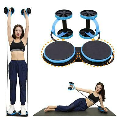 19 Abdominal Power Roll AB Trainer Waist Slim Exercise Core Double Wheel Fitness