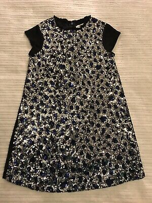 Stunning Girls Designer French Connection  FCUK Sequined Party Dress Frock 4-5
