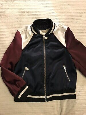 Girls River Island Varsity Jacket Age 5-6 Years Trendy Excellent Condition