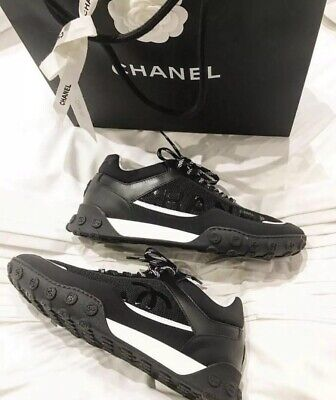 3307763c 100% AUTHENTIC MENS NEW Chanel CC Logo Black White Coral Lycra ...