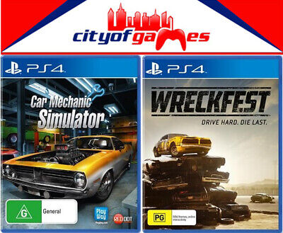 Car Mechanic Simulator & Wreckfest PS4 Game Bundle New & Sealed In Stock