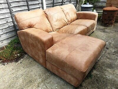 Sensational Dfs 3 Seater Leather Right Hand Facing Chaise End Sofa In Camellatalisay Diy Chair Ideas Camellatalisaycom