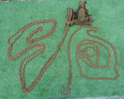 Vintage Eclipse Block Worm endless chain hoist