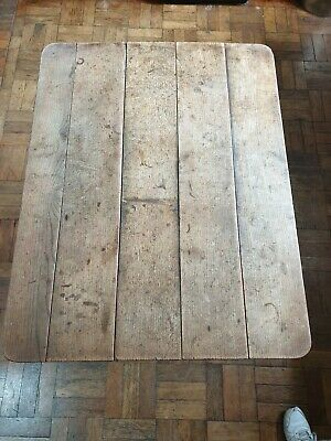 Antique oak table , removable top . 35x45 in by 28 genuine 18th Cent..small good