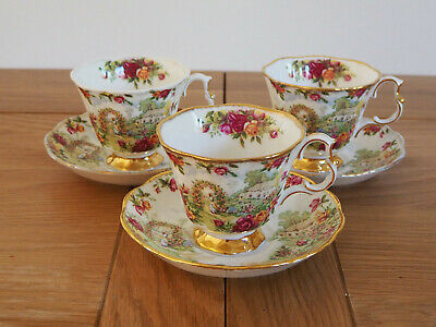 Royal Albert 'A Celebration of the Old Country Roses Garden' 3 Cup & Saucer