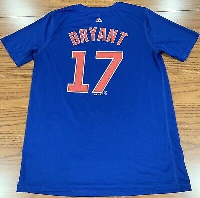 new concept 0e30c 93a5a KRIS BRYANT MAJESTIC Chicago Cubs Jersey Youth Medium ...