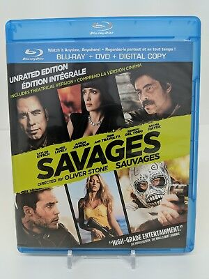 Savages Blu-ray Disc DVD Disc Unrated Edition Bilingual Bluray
