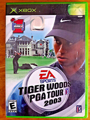 Tiger Woods PGA Tour 2003 (Microsoft Xbox, 2002 Golf Video Game Sports EA Cib VG