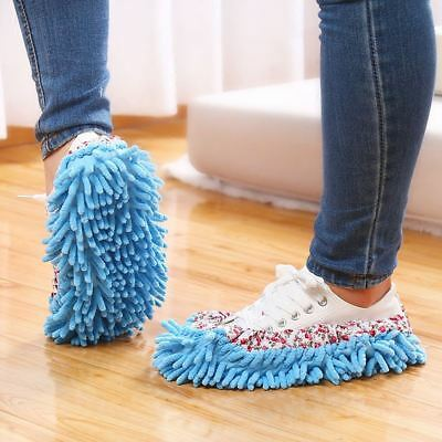 1XMop Slippers Dusting Cleaning Foot Socks Shoe Lazy Quick House Floor Polishing